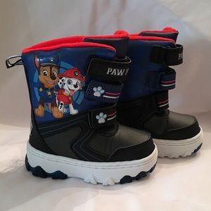 Paw Patrol Black and Blue Snow/Rain Boots Size 7